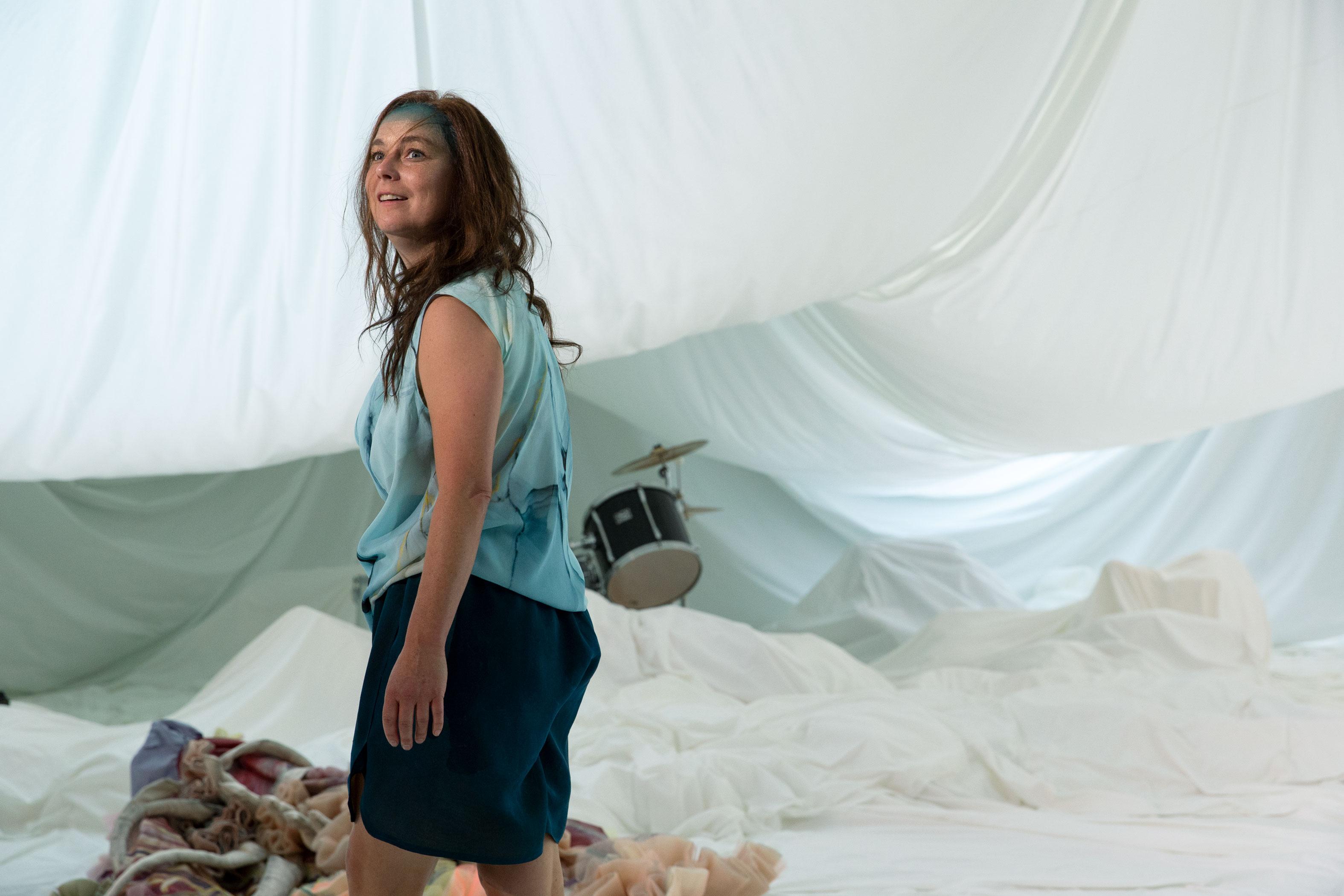 """Actor Maja Beckmann in """"Medea""""."""