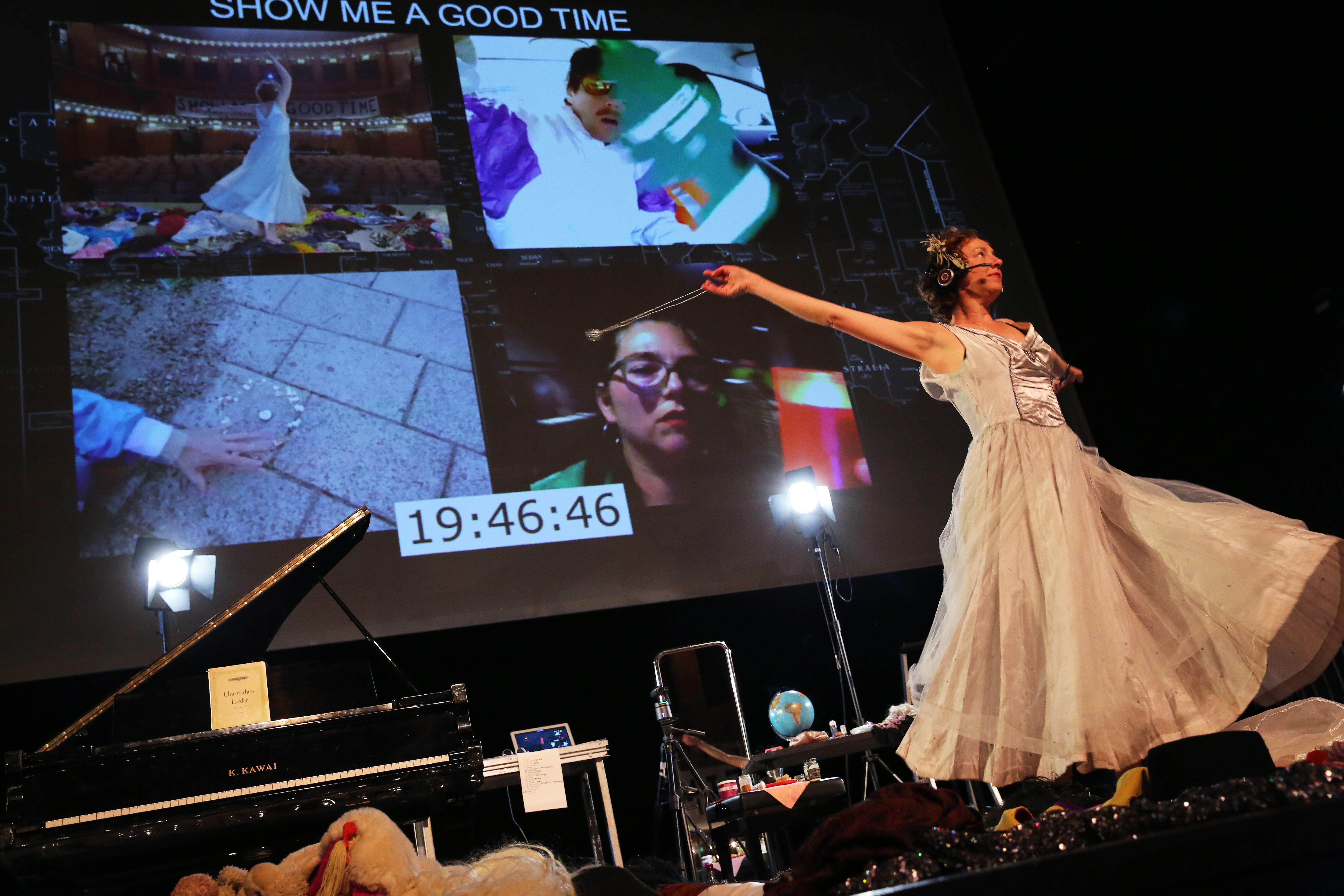 """Performer Berit Stumpf in """"Show Me A Good Time""""."""