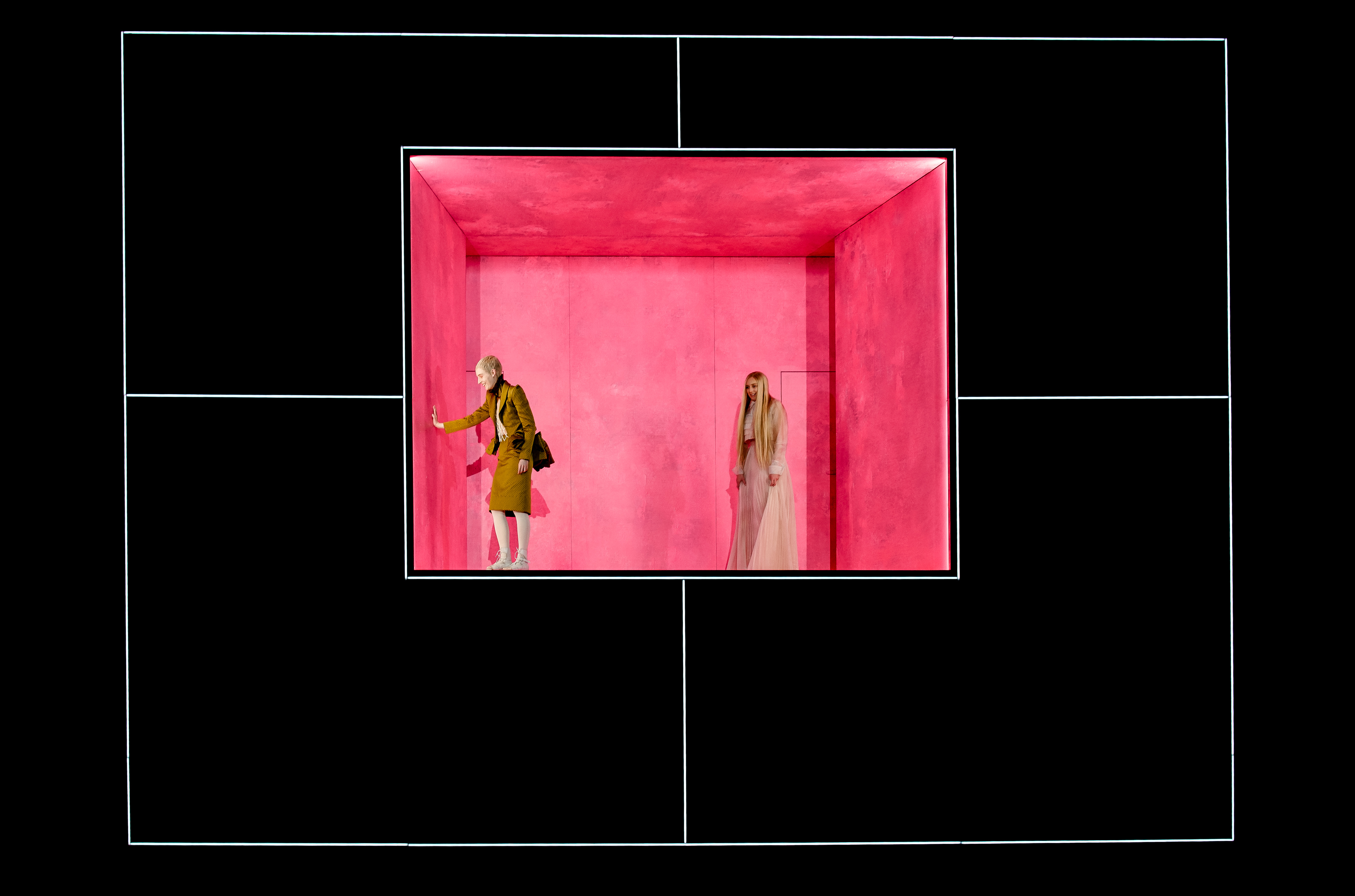 "Actors Julia Windischbauer and Franziska Machens in ""Maria Stuart""."