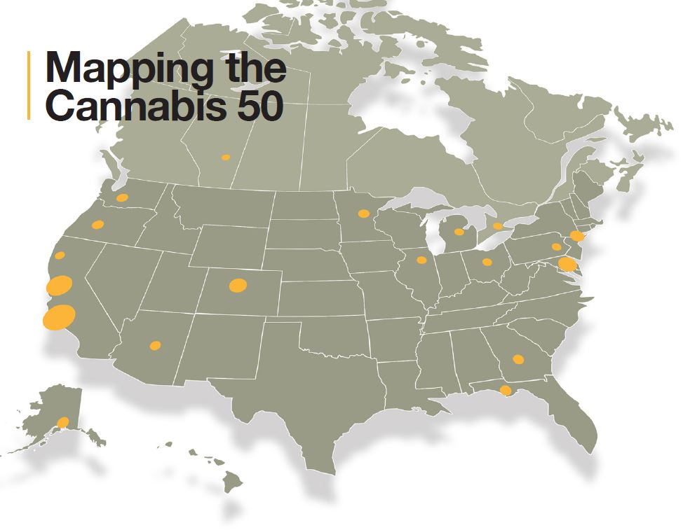 mapping the cannabis 50