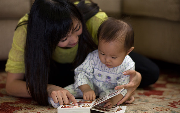 bedtime routine- reading to your toddler