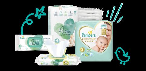 Pelene i Vlažne Maramice za novorođenče | Pampers HR