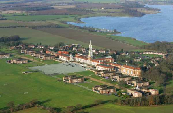 Royal Hospital School - situated directly by the sea