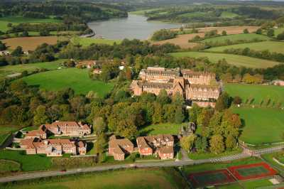 Ardingly College school camous is surrounded by beautiful nature and scenery including a lake.