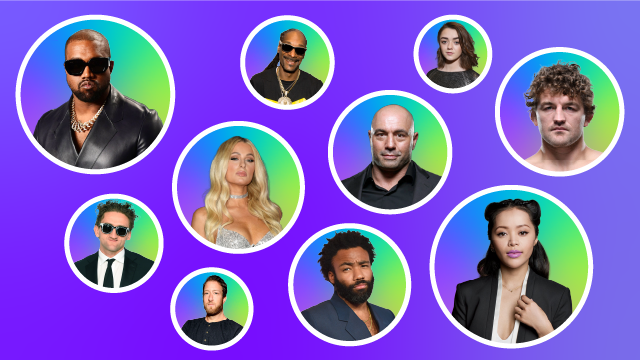 Cover Image for Top 10 Celebrities Keen on Crypto in 2021