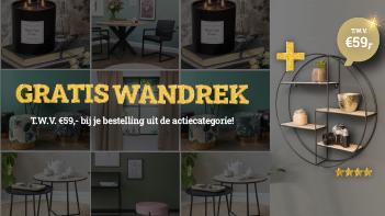Actie: Gratis Wandrek t.w.v. €59,-