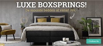 Luxe Bedden: De mooiste boxsprings al vanaf 399,-