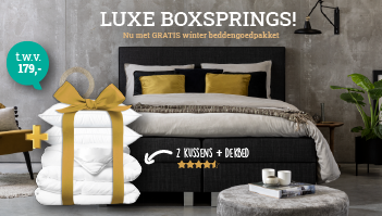 Luxe Boxsprings: Nu met Gratis Beddengoedpakket t.w.v. €179,-
