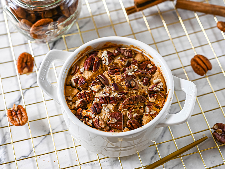 The Ultimate Protein Pecan Pie Baked Oats Recipe