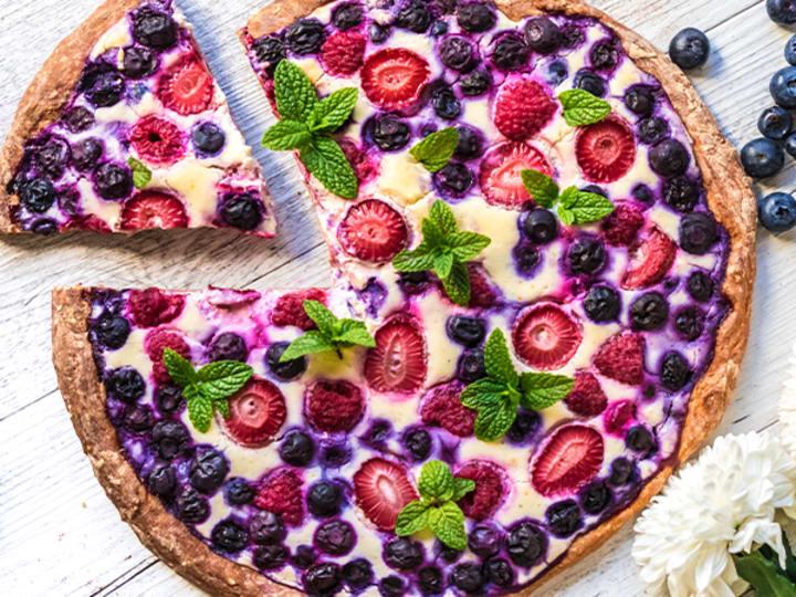 Berry Cheesecake Protein Pizza Recipe