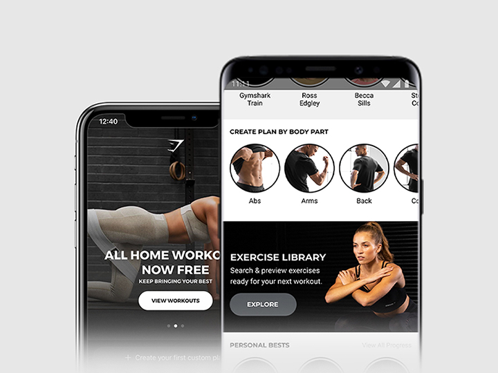 THE GYMSHARK TRAINING APP   DOWNLOAD NOW FOR IOS & ANDROID