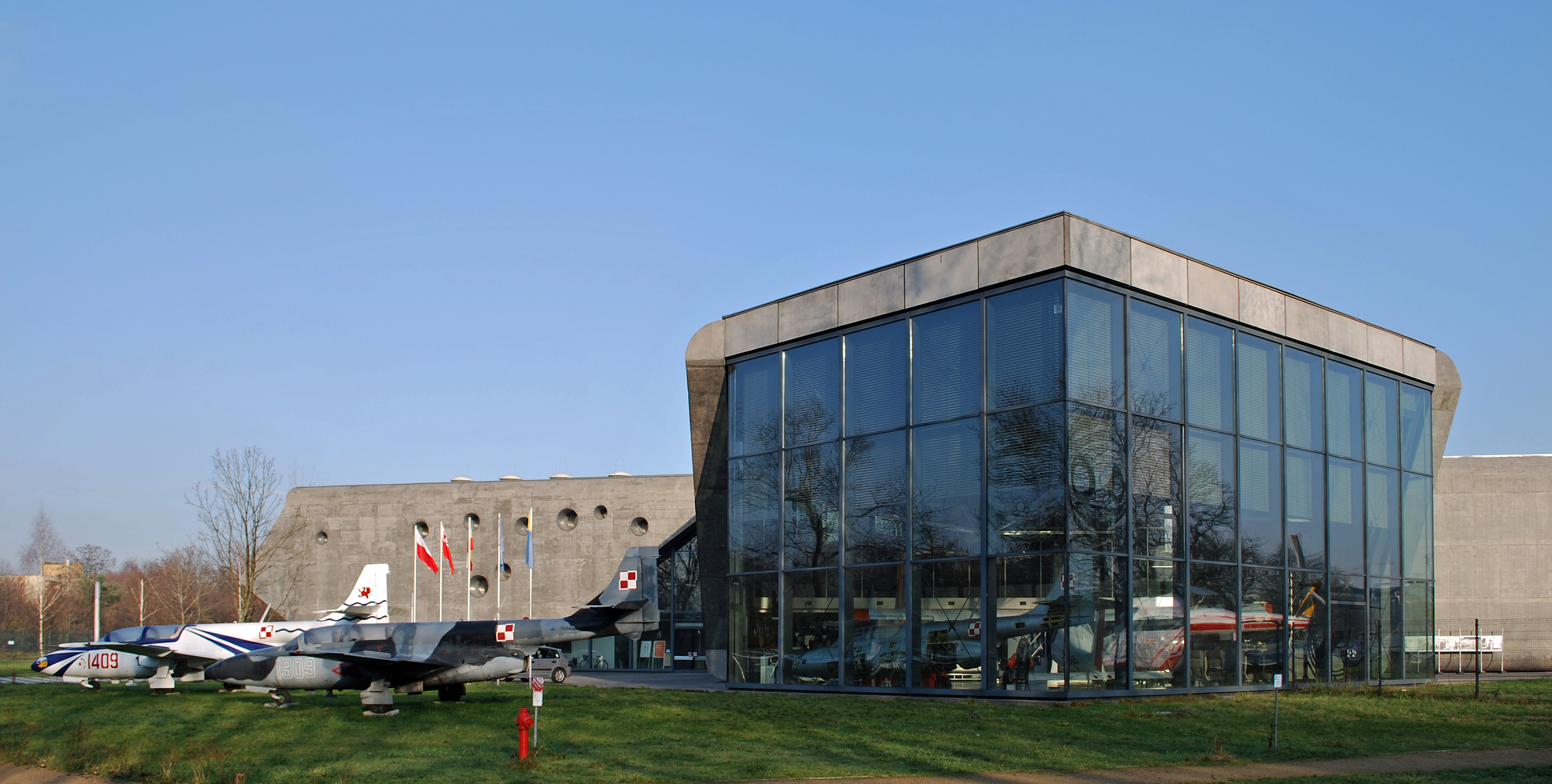 Polish Aviation Museum (Main Building, 2005 by arch. Bartlomiej Kisielewski), 39 John Paul II Av, Nowa Huta, Krakow, Poland
