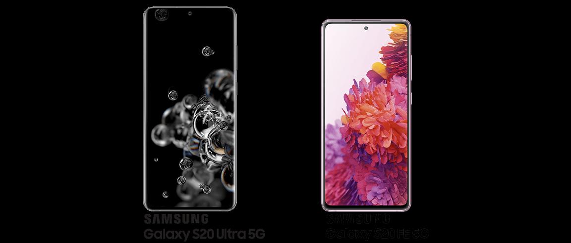 Samsung Galaxy S20 Ultra 5G and Samsung Galaxy S20 FE 5G
