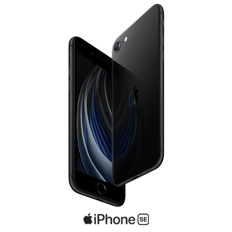 iPhone SE in black