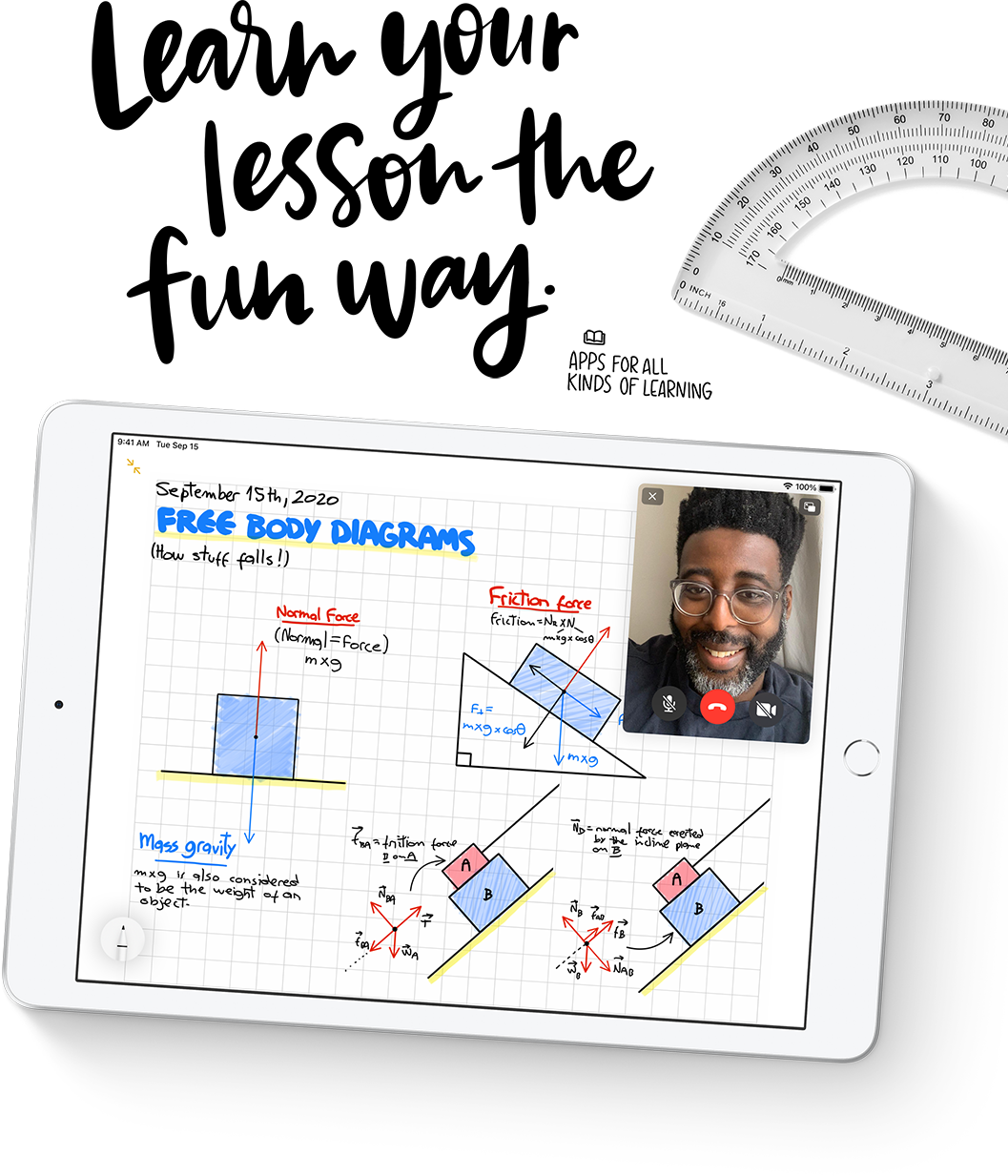Online learning becomes even easier with iPad 8 and tons of apps from the App Store.