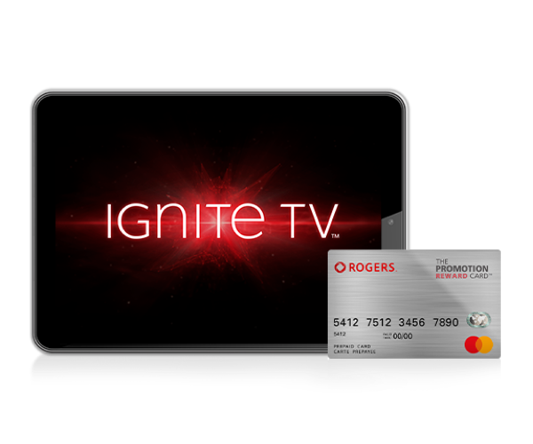 Get a $150 Rogers Promotional Prepaid Mastercard with select Ignite Bundles