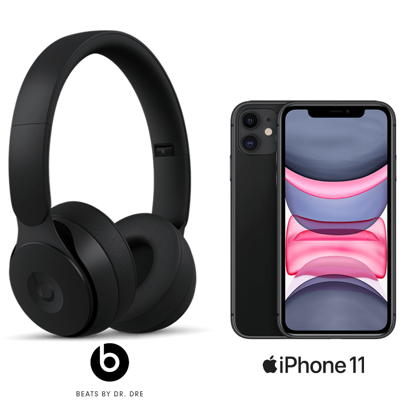 iPhone 11 and Beats Solo Pro