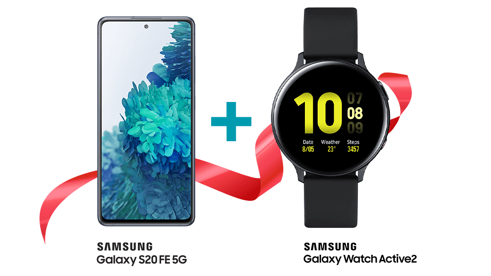 Samsung Galaxy S20 5G and Watch Active 2