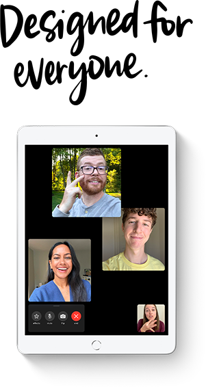 iPad 8 comes with support for vision, hearing, mobility and learning needs for better accessibility.