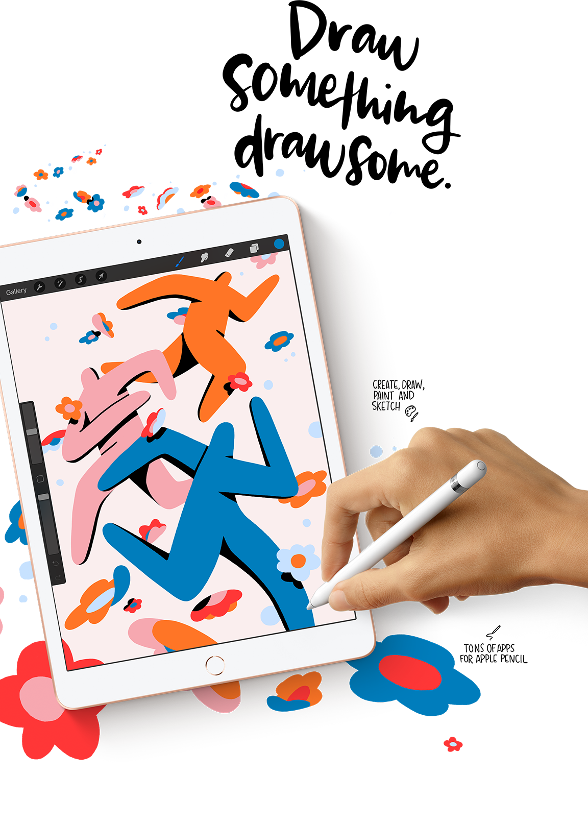 Get the most out of drawing on your iPad 8 with an Apple Pencil.