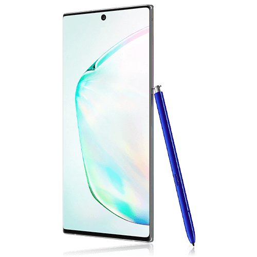 Samsung Galaxy Note 10+ (angled view)