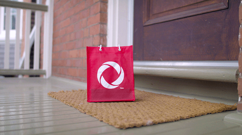 Rogers package delivered contactless at doorstop