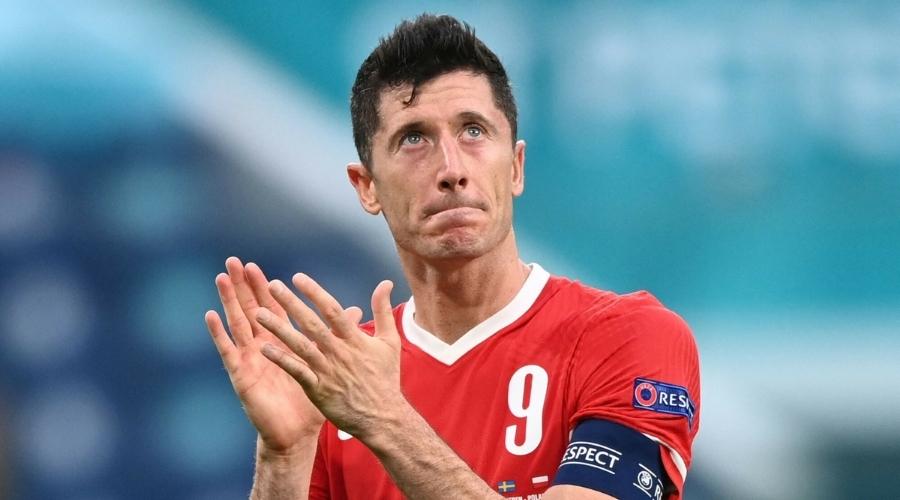 Robert Lewandowski mecz Polska - Szwecja