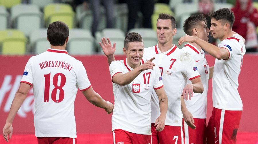 Damian Kądzior w barwach reprezentacji Polski.