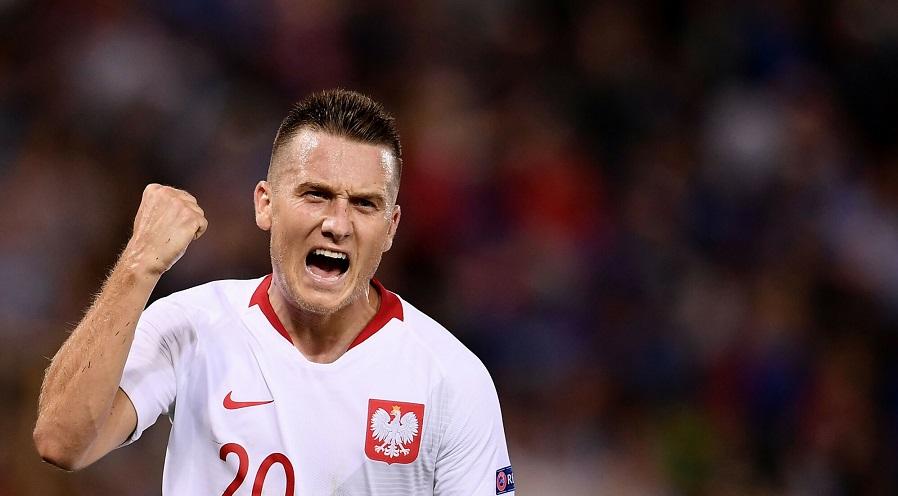 Piotr Zieliński w brawach reprezentacji Polski.