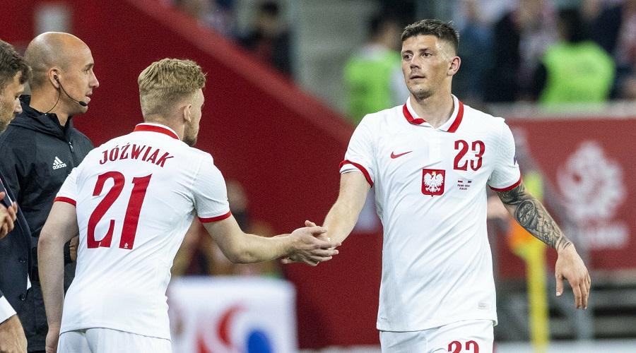 Dawid Kownacki w barwach reprezentacji Polski.