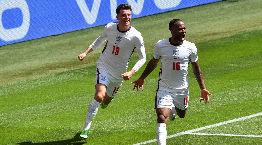 Raheem Sterling w barwach reprezentacji Anglii