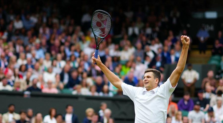 Hubert Hurkacz na Wimbledonie