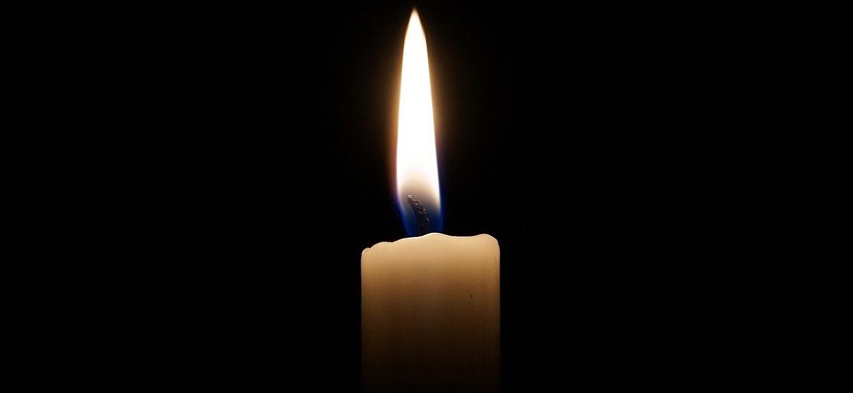 Zmarł - świeczka żałobna