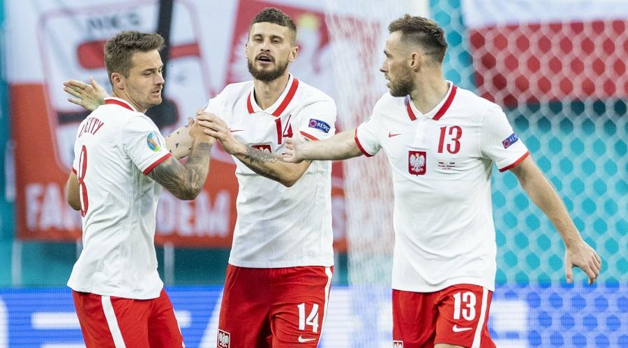Karol Linetty Mateusz Klich i Maciej Rybus w barwach reprezentacji Polski
