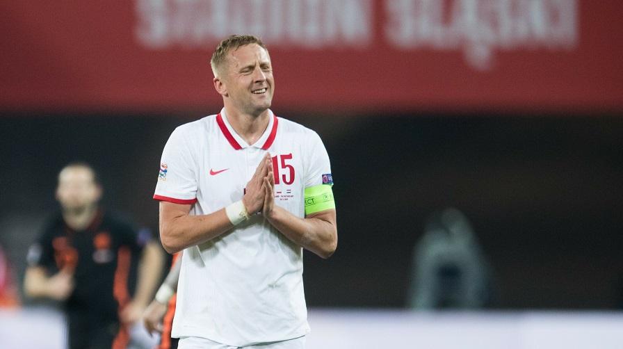 Kamil Glik w barwach reprezentacji Polski.