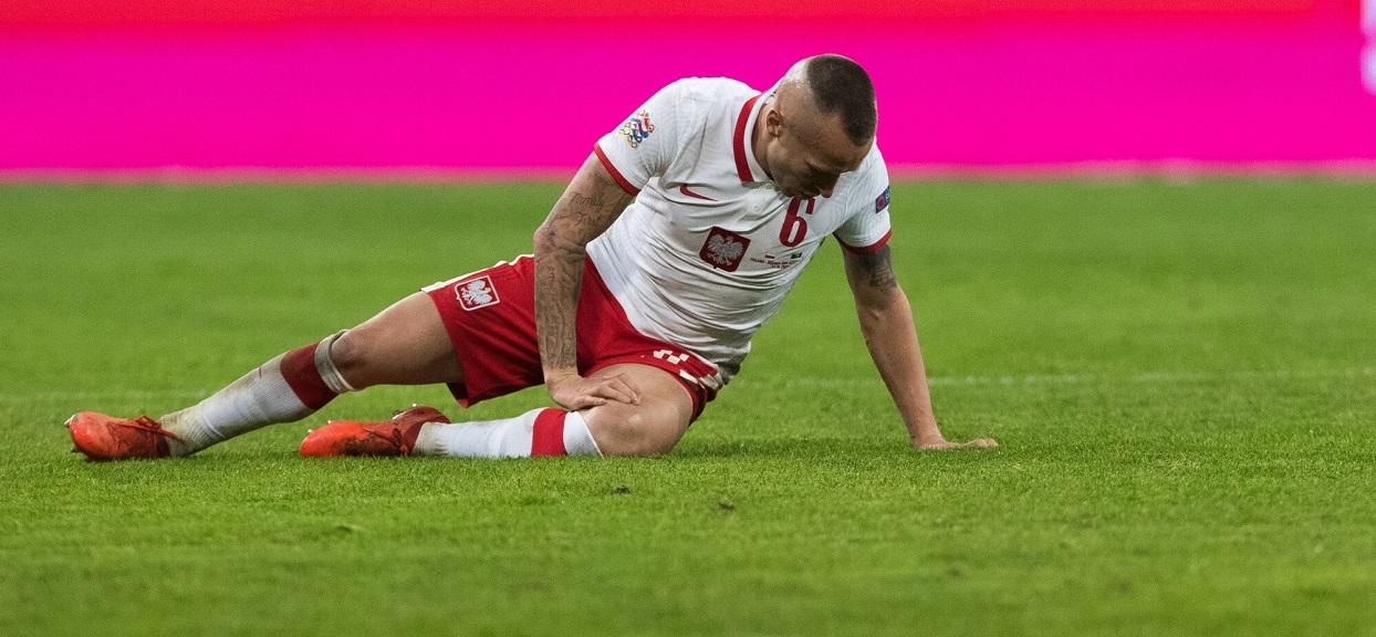 Jacek Góralski w barwach reprezentacji Polski