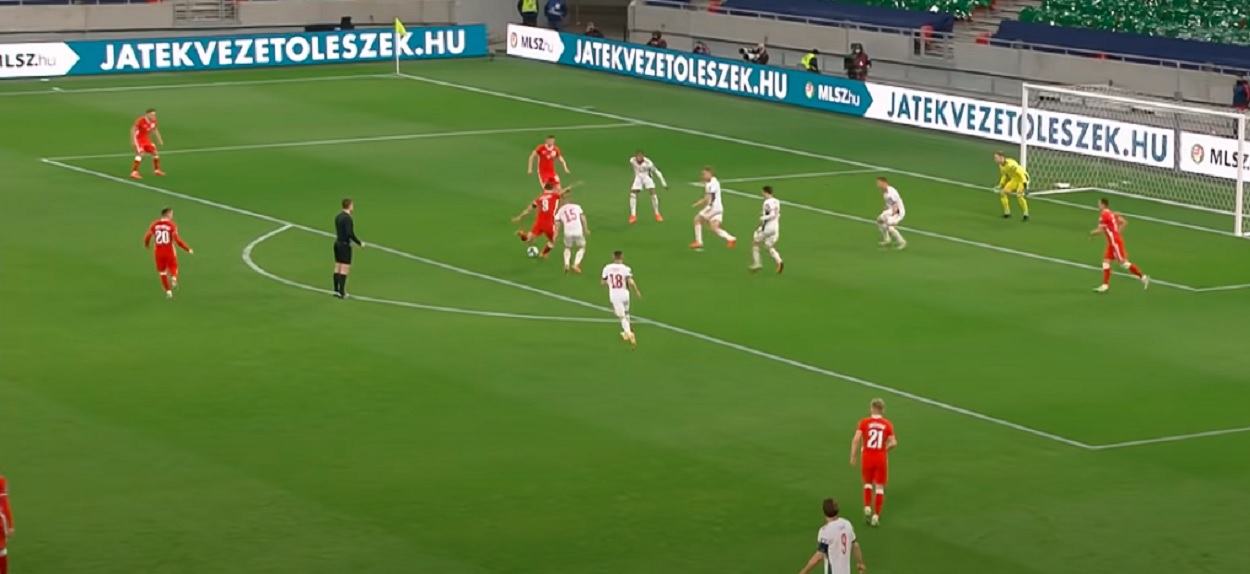 Robert Lewandowski gol z Węgrami