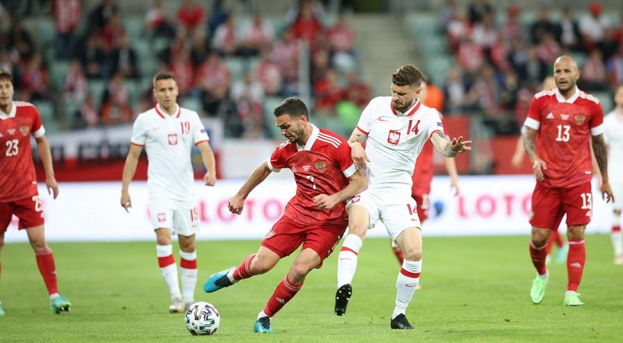 Reprezentacja Polski w meczu z Rosją