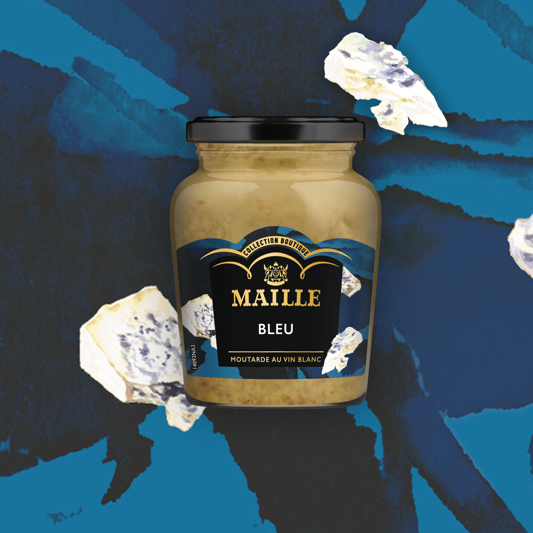 MOUTARDE AU VIN BLANC BLEU 108G ILLUSTRATION