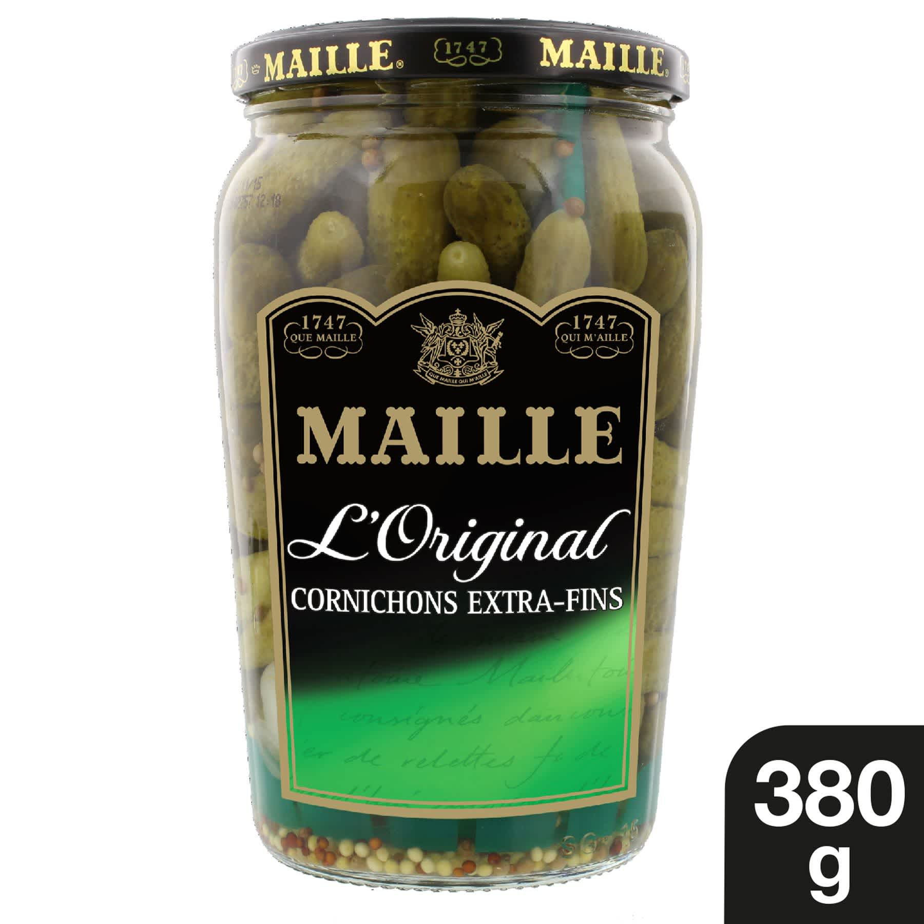Maille - Cornichons Extra-Fins Bocal 380 g