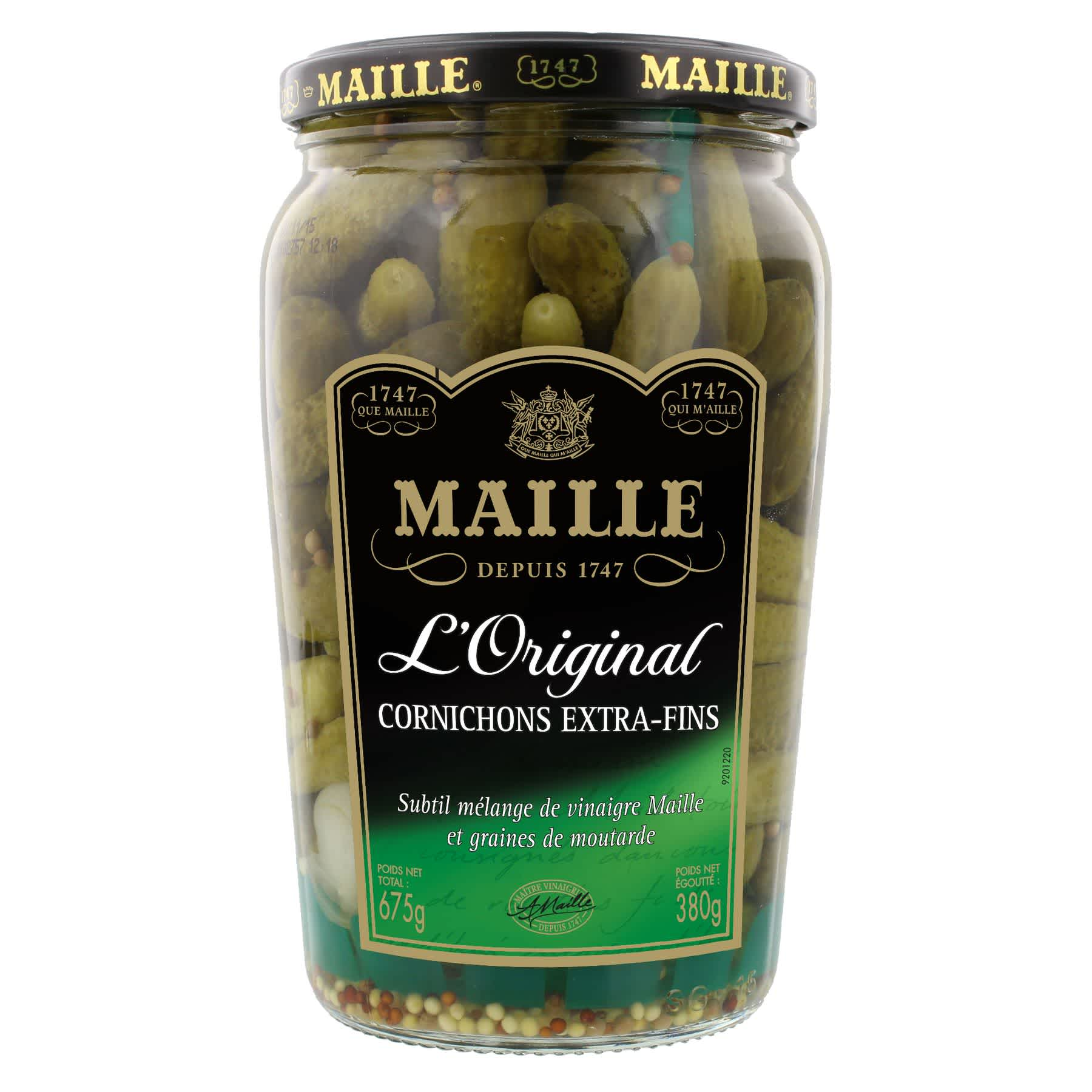 Maille - Cornichons Extra-Fins Bocal 380 g, overview