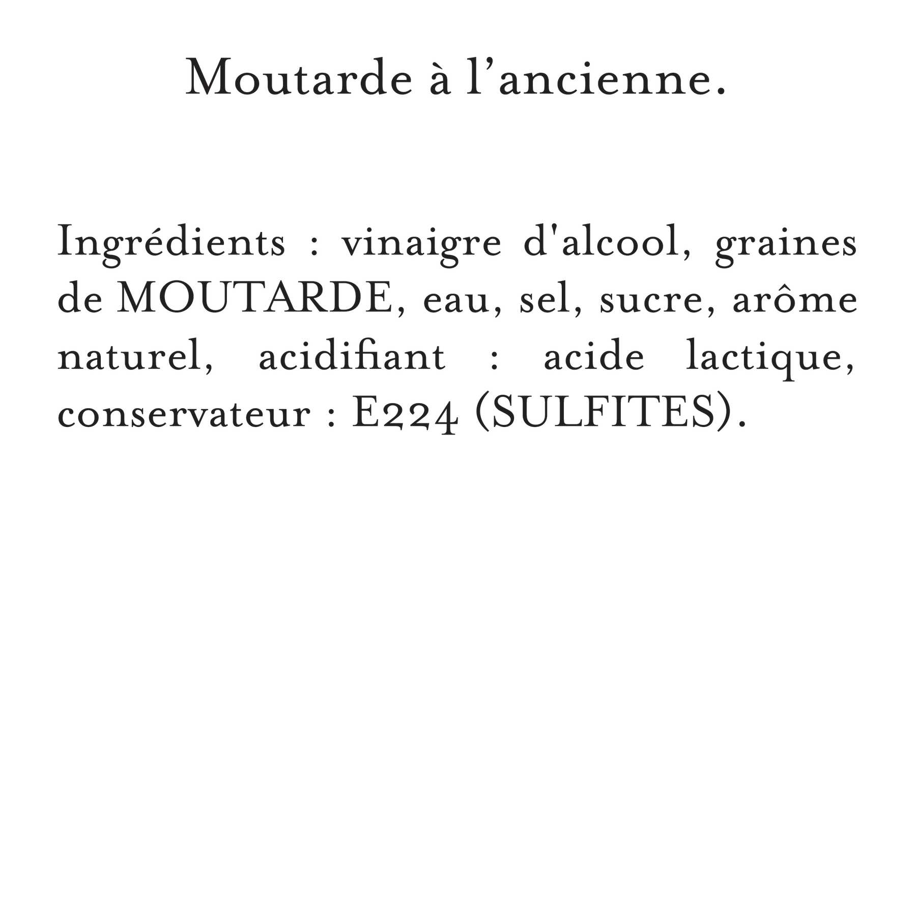 Maille - Moutarde à l'Ancienne Bocal 380 g, description