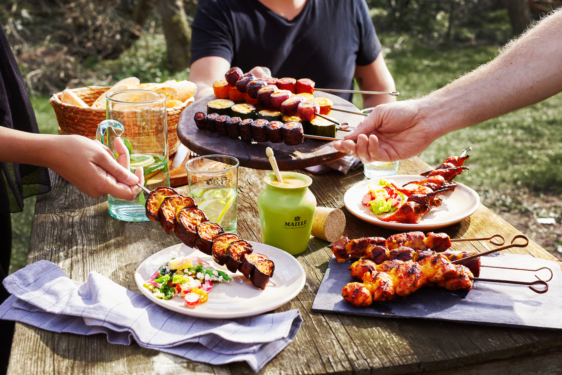 Maille - Brochettes Maille au barbecue, gourmet