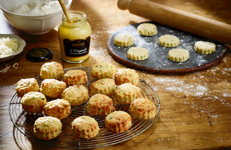 Maille Mustard Cheese scones 1