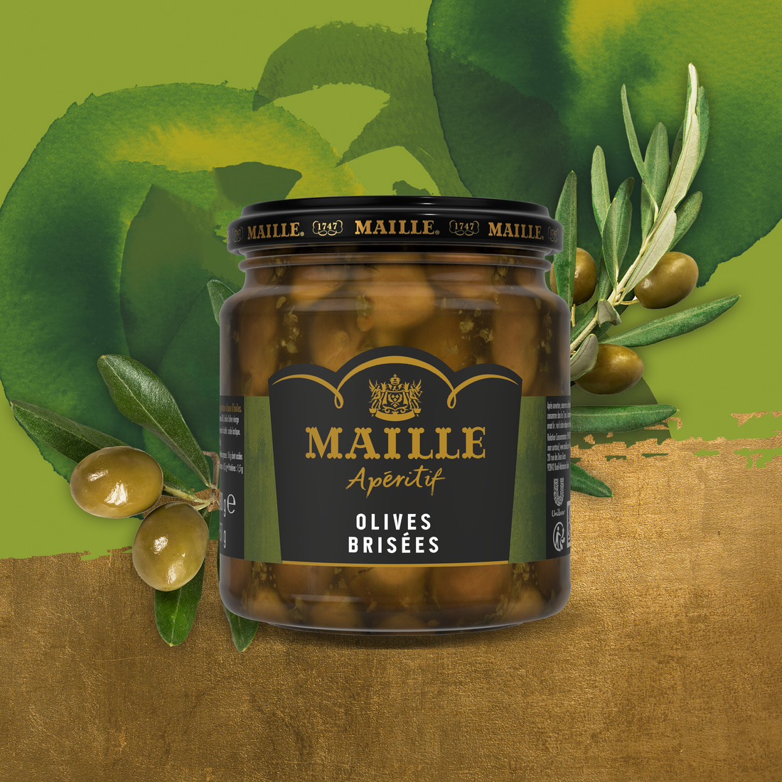 MAILLE APERITIF OLIVES BRISEES, 280G
