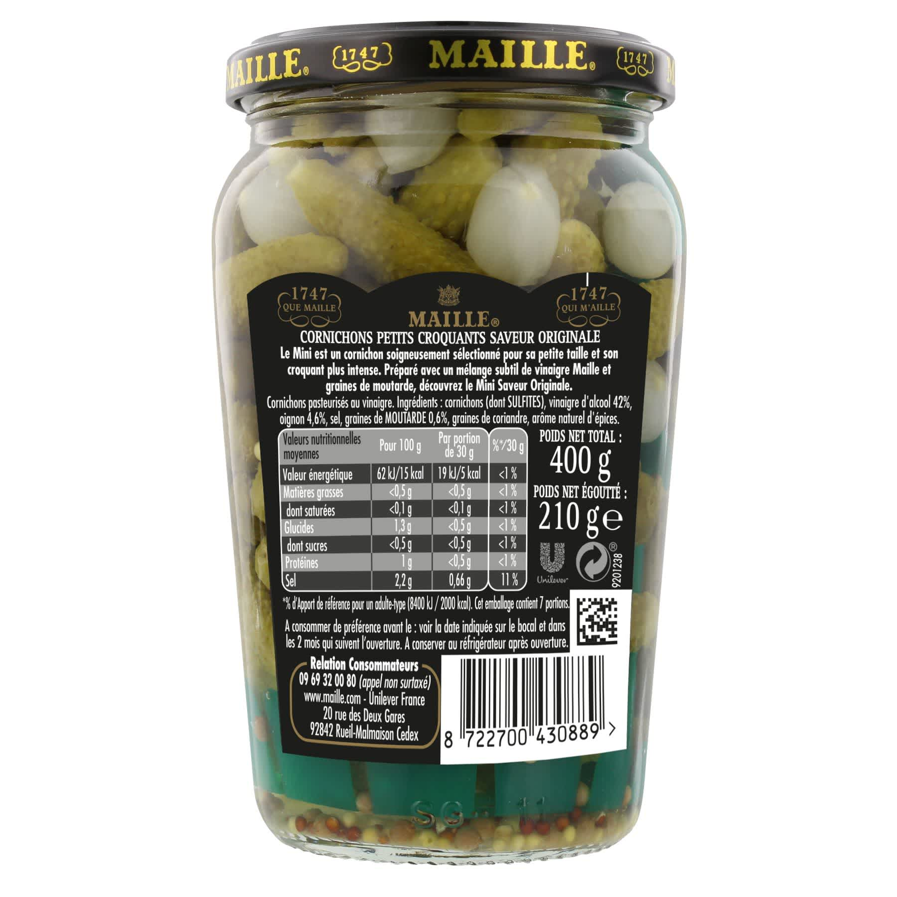 Maille - Cornichon mini l'original, 210 g, backend