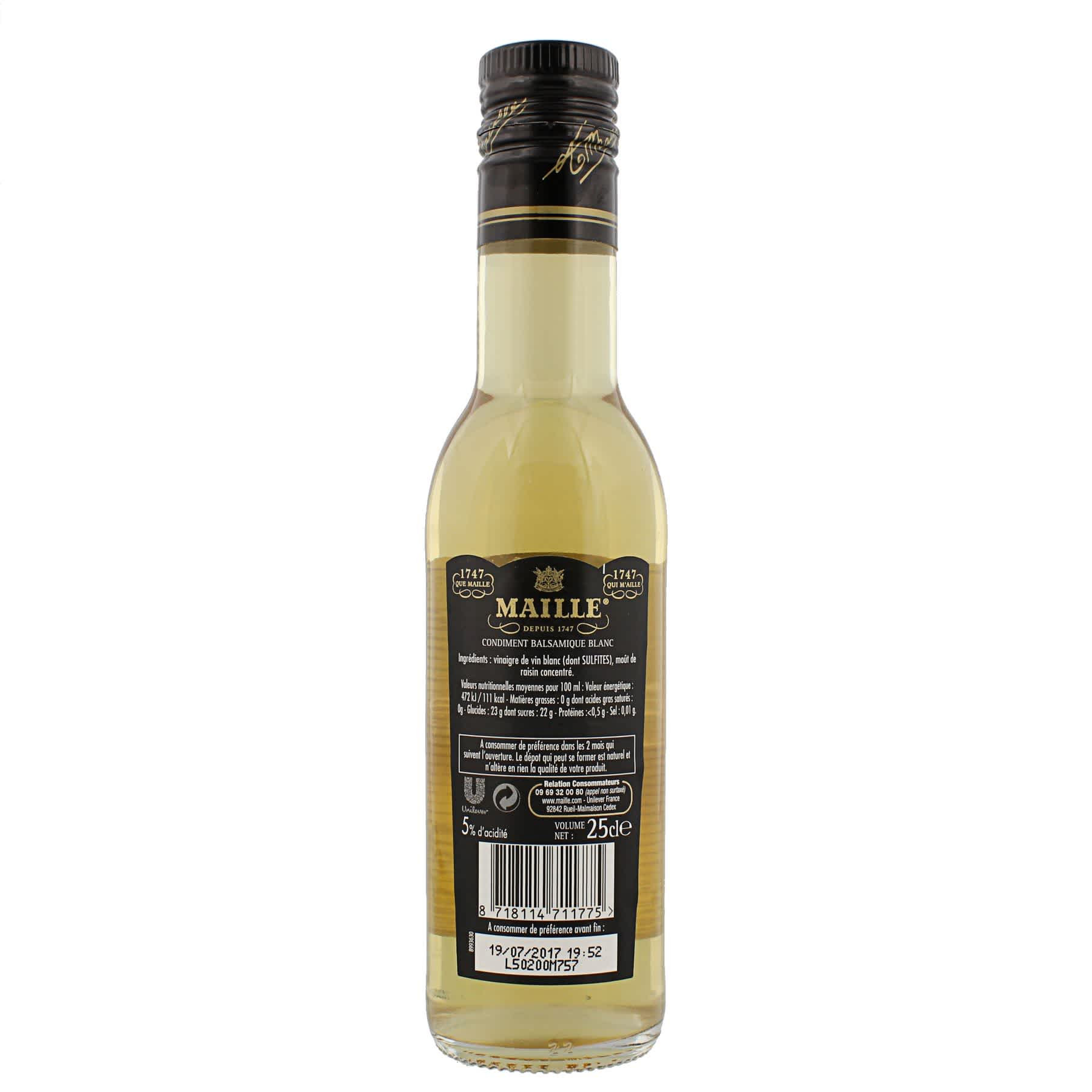 Maille - Condiment balsamique blanc, 250 ml, backend