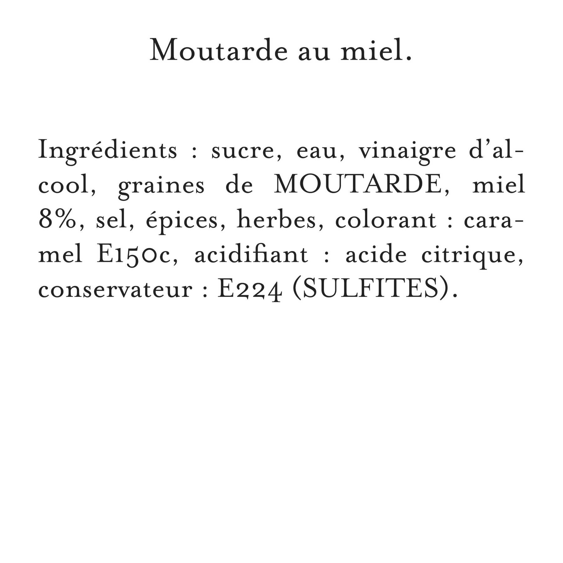 Maille - Moutarde Au Miel Bocal 230 g, description