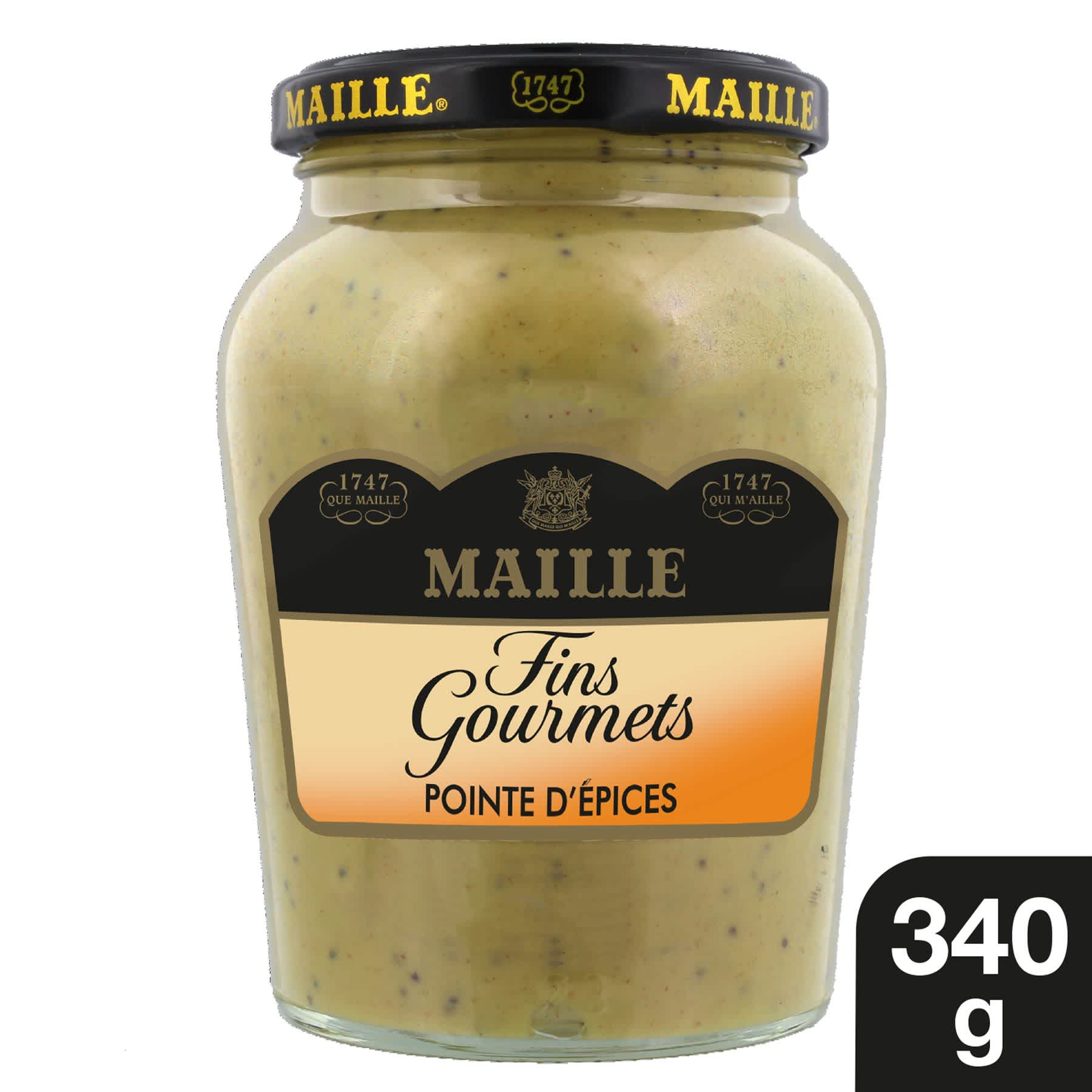 Maille Specialite a la Moutarde Fins Gourmets Pointe d'Epices Bocal 340g