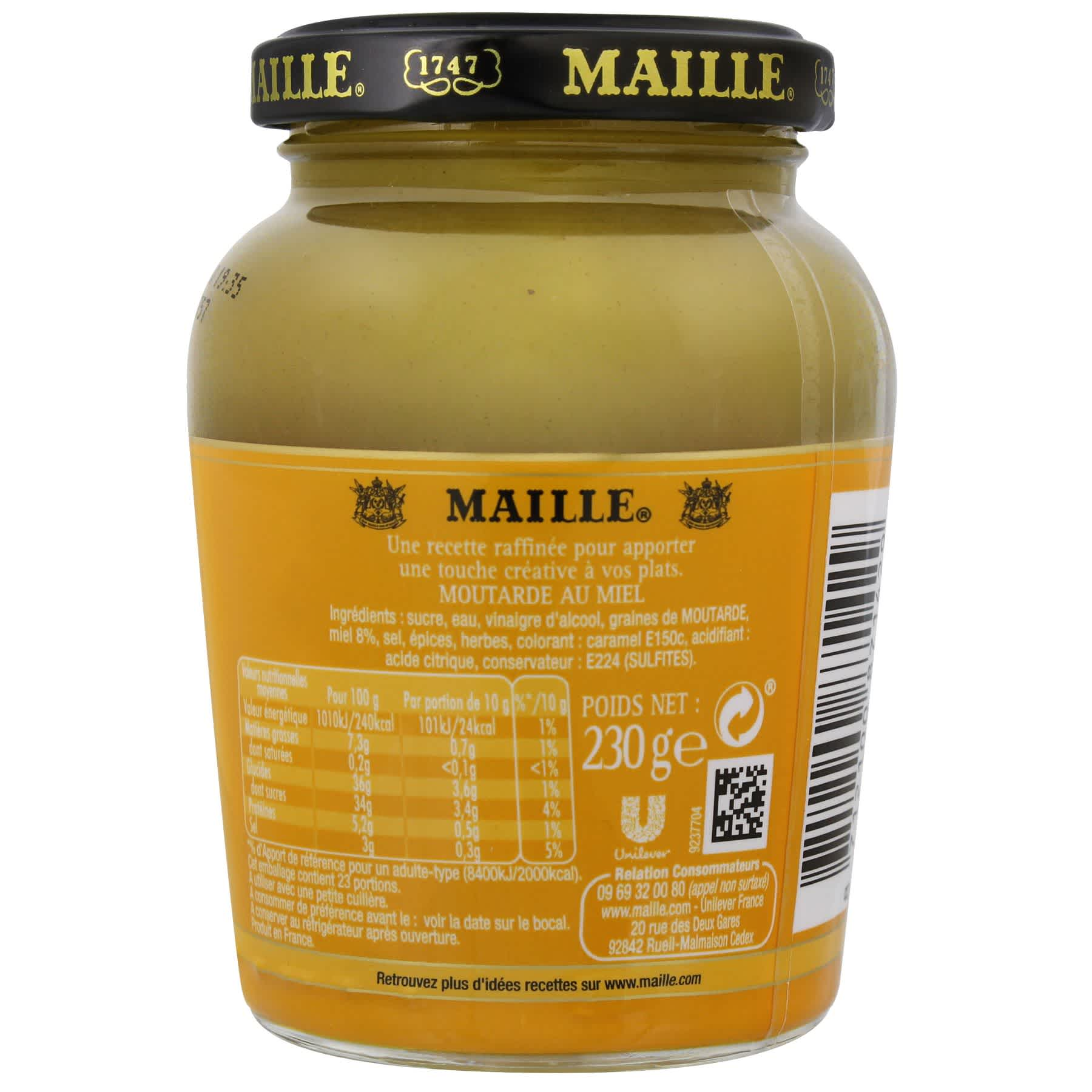 Maille - Moutarde Au Miel Bocal 230 g, backend